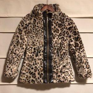 Girls faux fur winter coat